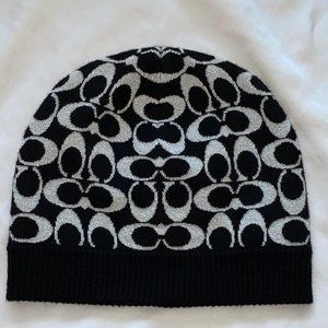 COACH Black C's Wool Blend HAT Cap
